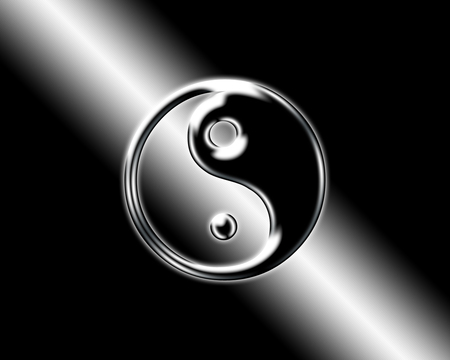 Ying Yang - black and white, black, ying yang, yingyang, white
