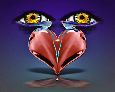 Tears Of The Heart 3d And Cg Abstract Background Wallpapers On