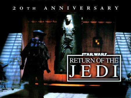 Return of the Jedi: 20th annivesary - darth vader, aliens, swords, family entertainment, empire, return of the jedi, luke skywalker, star wars, fiction, battles, cinema, fantasy, epic, knights, space film, movies, adventure, good vs evil, action