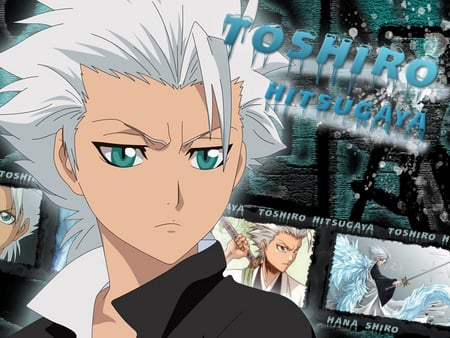 Toshiro Hitsugaya - bleach, toshiro, toshiro hitsugaya, manga, captain, cool, anime, dark, ice, animes, white, shiro, blue