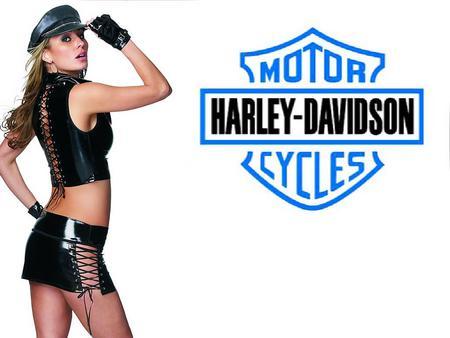 Biker Babe 2 - harley davidson, biker babe