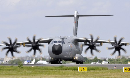 Airbus A400M - aircraft, a400m, military, prop, airbus