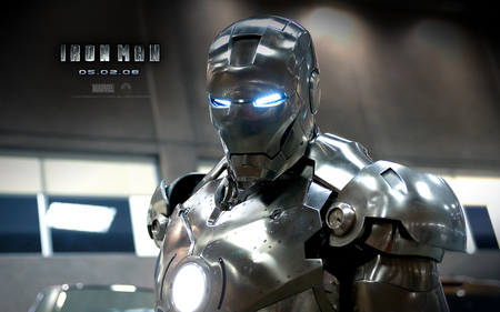 iron man 2 - silver, robot, man, suit, movie, iron