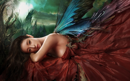 Beautiful Fairy - wings, cool, fantasy, fairy, girl abstract, beautifui, picture