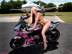 Hot babe n Bike