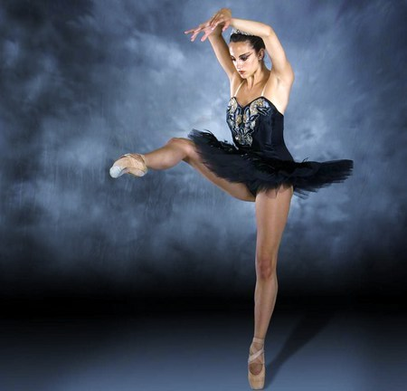 Keep on your toes - ballerina, tutu, stage, black, ballet, dance