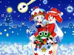 Keroro Gunso (Sgt. Frog) Angol Mois and Natsumi Christmas Scene