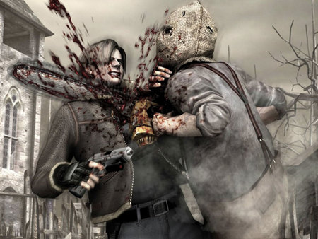 Resident Evil - zombies, game, chainsaw, movie