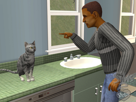 Bad Kitty - cat, pets, bad, sims 2