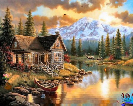 Cabin by the lake - summer, relax, retreat, cabin