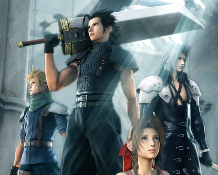 Final.Fantasy.VII.Crisis.Core - zack, cloud, crisis core, aeris, sephiroth, final fantasy vii, grey