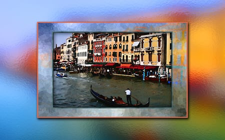 Venice - water, waterfront, canal, transportation, venice, gondola, boating, italy