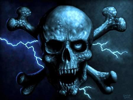 Skull - death, reaper, skull, dark