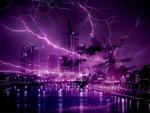 crazy lightening storm