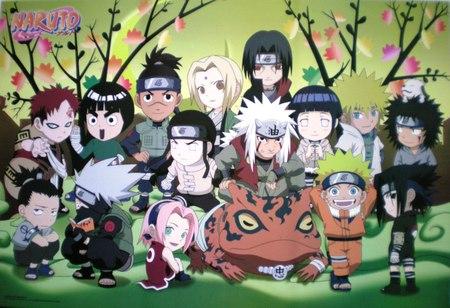 Naruto crew - sakura, kakashi, naruto, rock lee