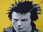 Sid Vicious Painting