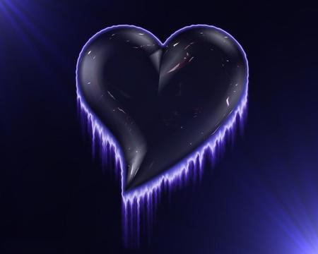 3D Heart - valentines, valentines day, 3d and cg, magenta, its so cool, black, valentine, i love you, birthday, 3d, purple, dark, love, violet, mother s day, blue