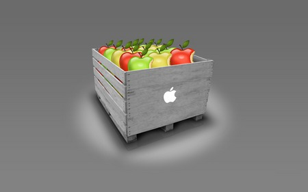 apple box - apple, mac, tecnhology, box, system, silver