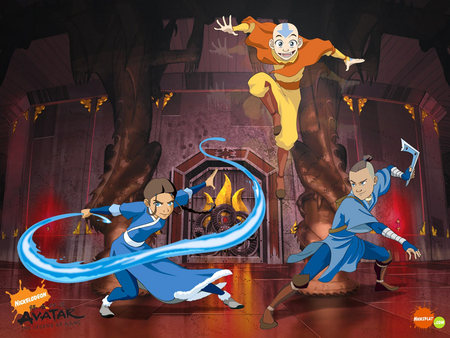 The Last Airbender - ice water, warriors, avatar, dragon