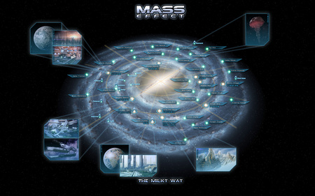 Mass Effect The Milky Way - space, planet, milky way, galaxy, map, star, mass effect, science fiction