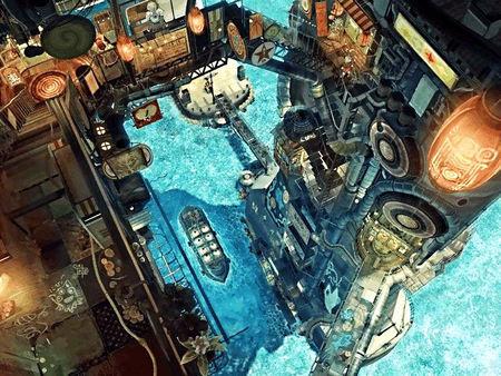 Port city - teikoku shounen, fantasy, port, city