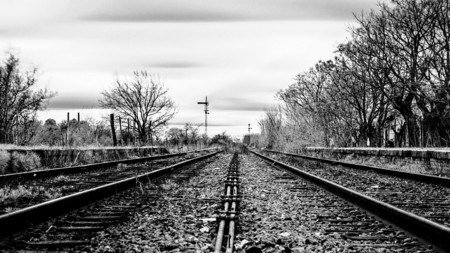 Lonf and lonesome tracks - photography, trains, travel, tracks, black and white