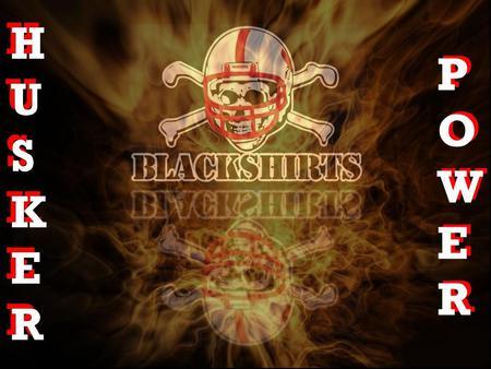 Nebraka Cornhuskers Blackshirts - nebraska, cornhuskers, blackshirts, football