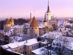 Beautiful winter city