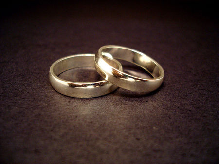 weeding rings - two rings, black, love, golden
