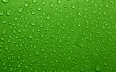 Green water drops - photography, drops of water, water, other, nice, abstract, sweet, beauty, clear, drop, beautiful, lovely, drops, pretty, green