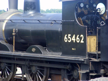 A Steam Train At Holt Railway Station. - photo, numbers, train, wheels