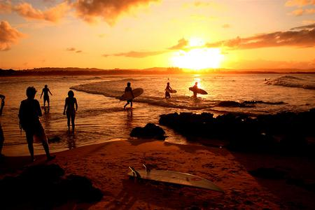 Sunset Surfers Sunsets Nature Background Wallpapers On