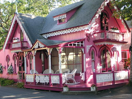 pink house pink style design house beautiful home architecture
