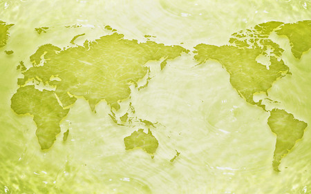 Map - world, cg, cities, other, abstract, 3d, beauty, clear, beautiful, country, map, green