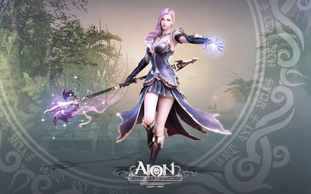 Beautiful Teen Warrior Action Girl Angel Video Game Aion