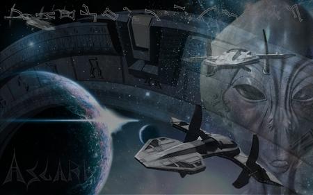 Stargate 3 - spaceship, aliens, goa uld, starship, sg1, asgard, anubis, goauld, horus, tv series, stargate sg1, stargate