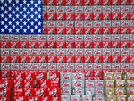 USA FLAG IN COKE
