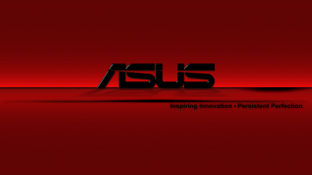 RED ASUS - asus, computer, motherboard, pc