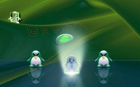 ubuntu an alien? - computer, alien, tux, ubuntu