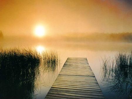 Fresh Morning On River
