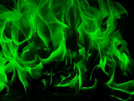 Green Fire Wallpaper Background Green Smoke - fire  burning
