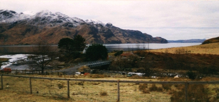 Loch Hourn - loch, bridge, mountains, remote, river
