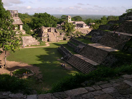 Palenque - mayan, mexico, ruins, architecture