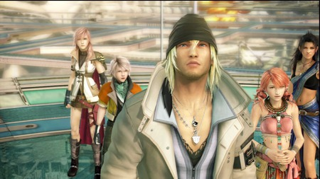 Final Fantasy XIII Party - ff xiii, lightning, vanille, snow, fang, final fantasy