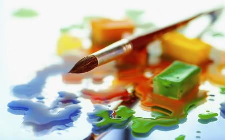 Colours - mirror, colours, drolets, glass, stain, brush, sponge