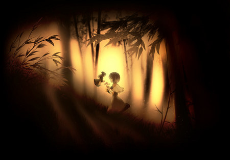 Secret Garden - forest, shanghai, anime, touhou, alice margatroid, twilight, bamboo