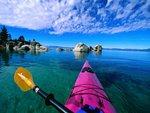 Kayak in Seychelles Islands
