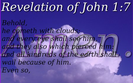 He cometh with clouds - revelation of john 1-7, bible verse, clouds, 1920x1200