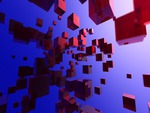 red-iridium-blocks-blue-sky