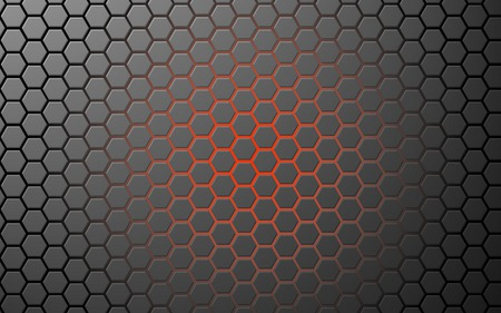 orange glow hex grid - pattern, glow, orange, grid, background, hex